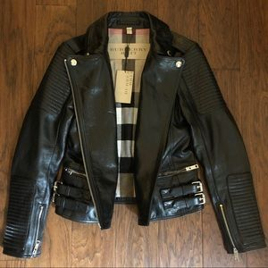 Burberry Mossfield Leather Jacket